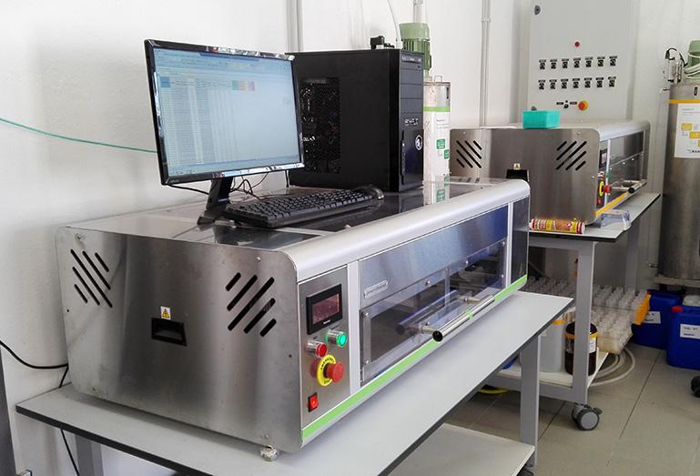 Labor, in dem wir landwirtschaftliche Bodenanalysen durchführen